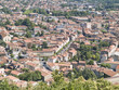 Mazamet, nice ville surrounded by deciduous forests, France