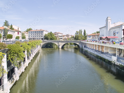 Castres town, located in Tarn region, France.