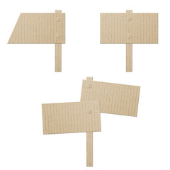set cardboard banners isolated on white