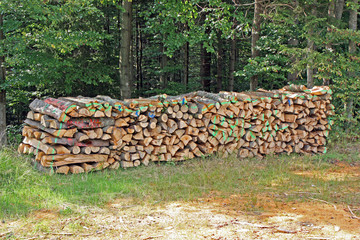 Buntes Brennholz
