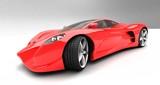 red prototype car