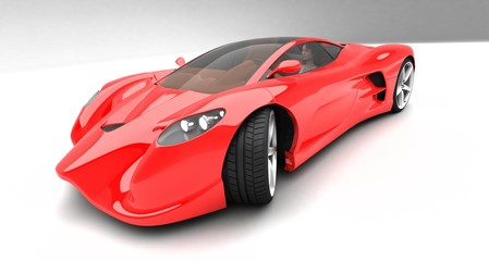 red prototype car