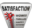 Satisfaction Thermometer Measuring Happiness Fulfillment Level