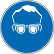 Gebotszeichen Schutzbrille Augenschutz benutzen Zeichen