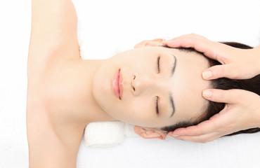 エステ Head massage