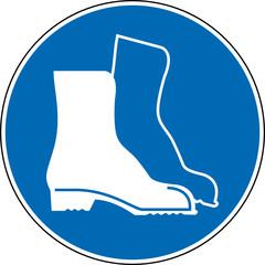 Gebotszeichen Sicherheitsschuhe Fußschutz Symbol