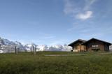 Chalets at Mannlichen viewpoint in Switzerland poster