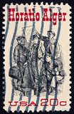 Postage stamp USA 1982 Horatio Alger American Author poster