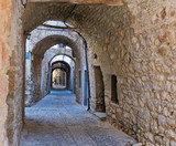 Fototapety Arches in the village of Mesta in Chios, Greece