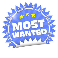 most wanted get it now button sticker aufkleber