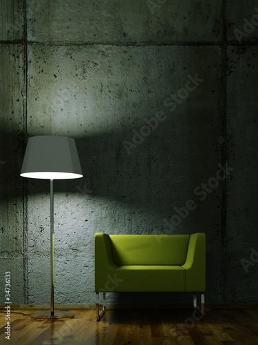 Wohndesign - grüner Sessel