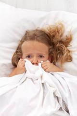 Little girl having childhood nightmares