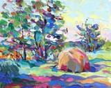 Fototapety oil painting vector illustration