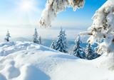 Fototapete Blau - Bramkofel - Mittelgebirge