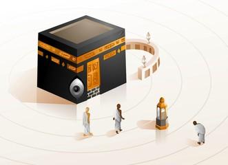 Hajj in Kabbah of Mecca