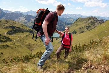 Aufstiegshilfe in den Bergen