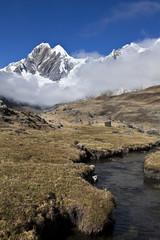 montagne andine verticale