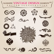 Calligraphic elements vintage heraldic. Vector symbols