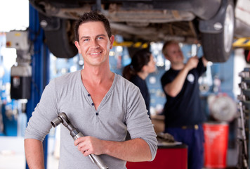 Mechanic Man with Air Wrench