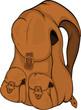 School backpack. Cartoon