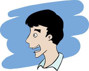 Surprised man face