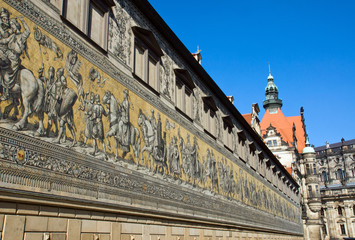 The Fürstenzug in Dresden