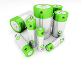 Set of rechargeable batteries