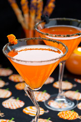 Halloween snack and drinks