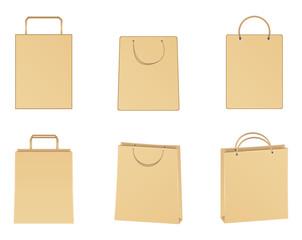 Vector paper bags