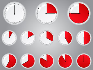 Vector Red Timers