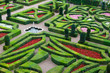 jardin français traditionnel, Villandry, France