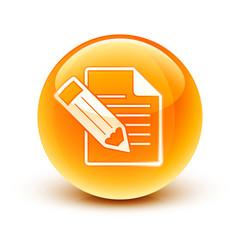 icône fichier document écriture / file icon
