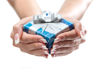 presenting the gift