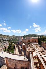 Blick auf Alcazaba in der Alhambra, Granada/Spanien