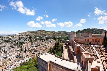 Alcazaba mit Alhambra und Granada, Spanien