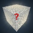 question mark inside cubical maze