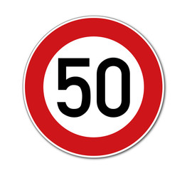 Tempo 50, Verkehrsschild