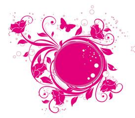 cercle floral rose