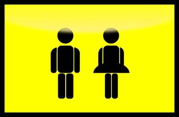 Mann und Frau (Symbole)