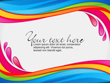 Fototapety abstract colorful rainbow color splash border
