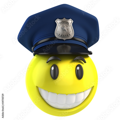 smiley policeman