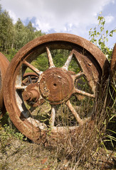 altes Lokomotivenrad