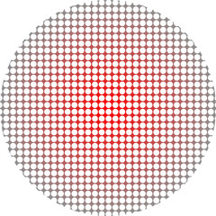 Round Punching Red Mesh