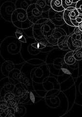 Cat eyes background