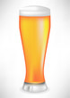 full beer glass