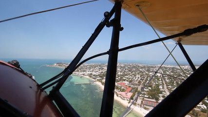 Biplane over Key West. 1940 UPF-7 Waco biplane.