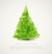 Vector modern abstract christmas tree