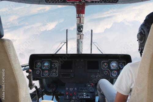 Papiers peints Nautique motorise helicopter cockpit