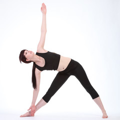 Revolved Triangle yoga pose Parivrtta Trikonasana