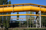 Big diameter gas and oil pipelines in metallurgical plant poster